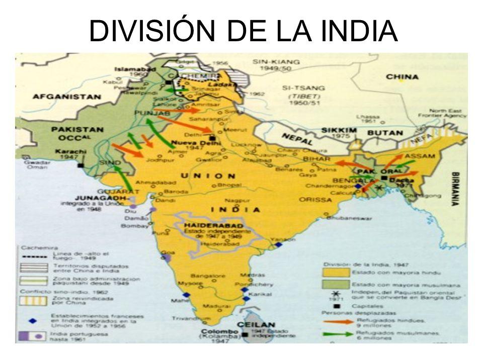 DIVISIÓN DE LA INDIA Escena 25
