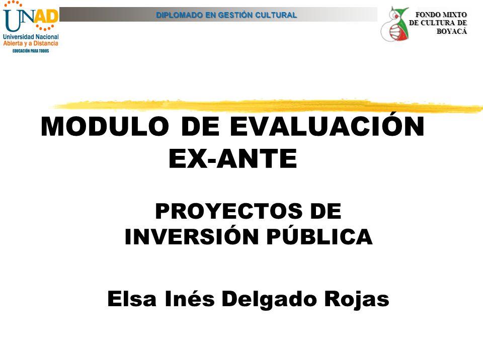 MODULO DE EVALUACIÓN EX-ANTE