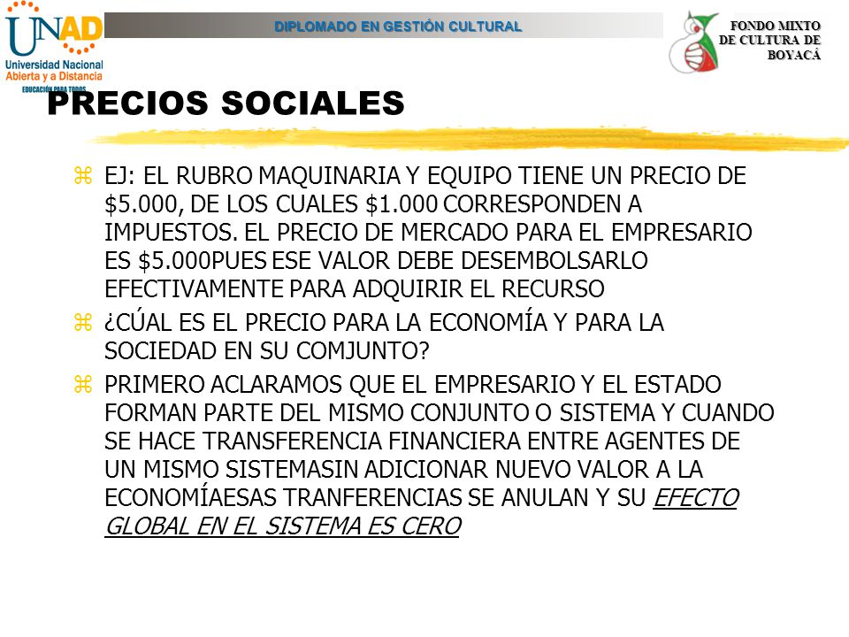 PRECIOS SOCIALES