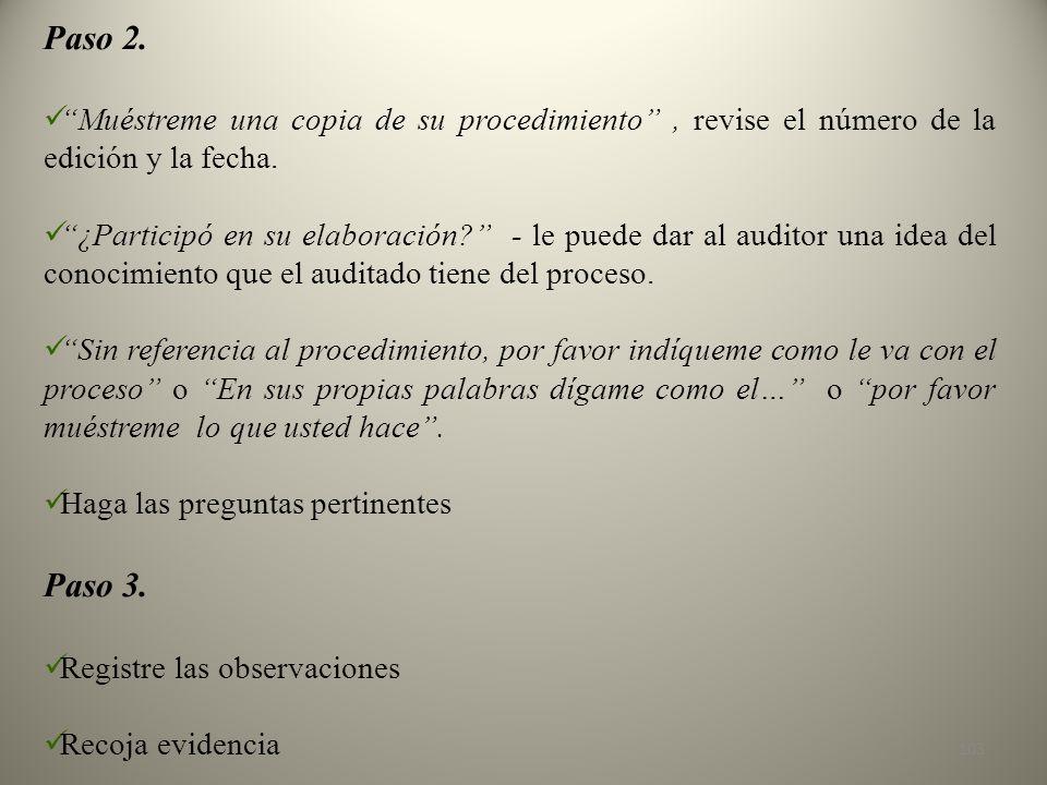 Paso 2. Muéstreme una copia de su procedimiento , revise el número de la edición y la fecha.