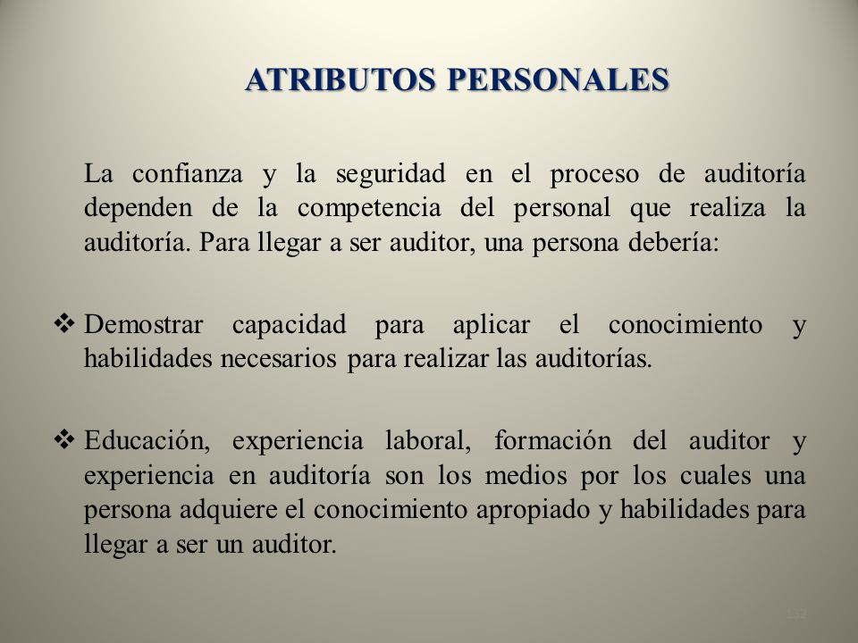 ATRIBUTOS PERSONALES