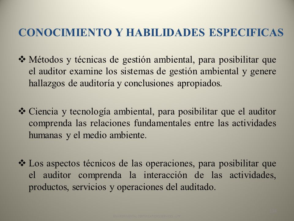 CONOCIMIENTO Y HABILIDADES ESPECIFICAS