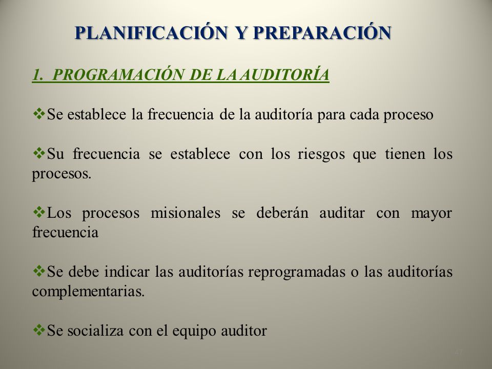 PLANIFICACIÓN Y PREPARACIÓN