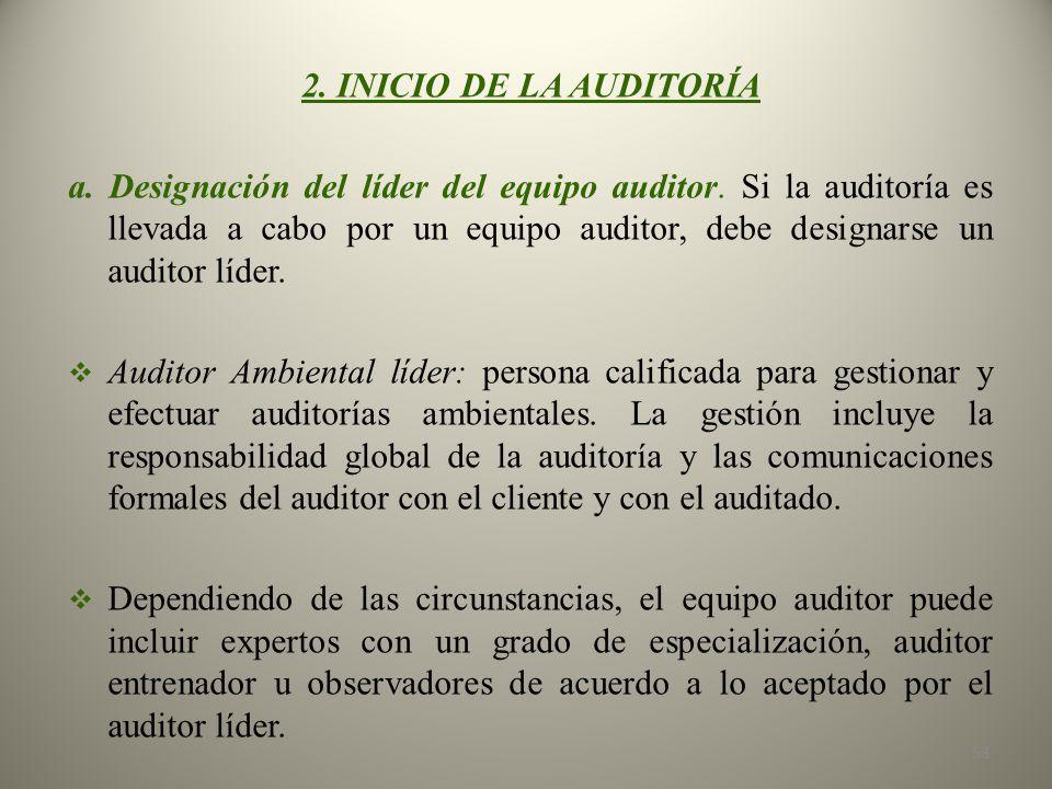 2. INICIO DE LA AUDITORÍA