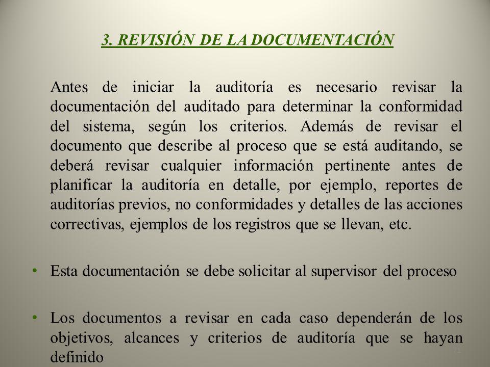 3. REVISIÓN DE LA DOCUMENTACIÓN