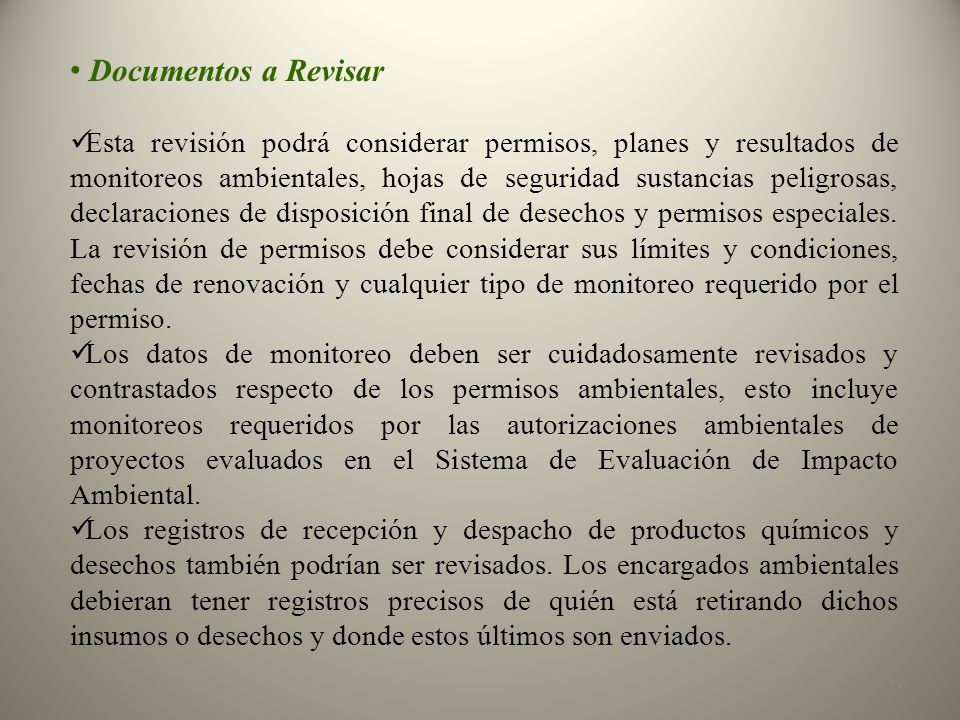 Documentos a Revisar