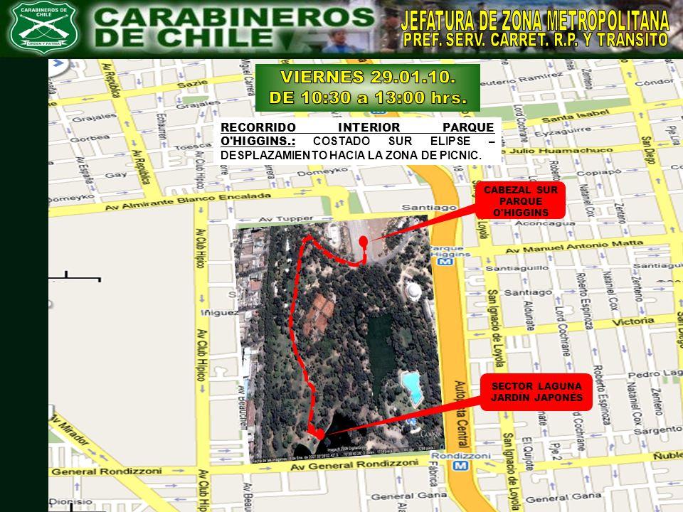 VIERNES 29.01.10. DE 10:30 a 13:00 hrs. JEFATURA DE ZONA METROPOLITANA