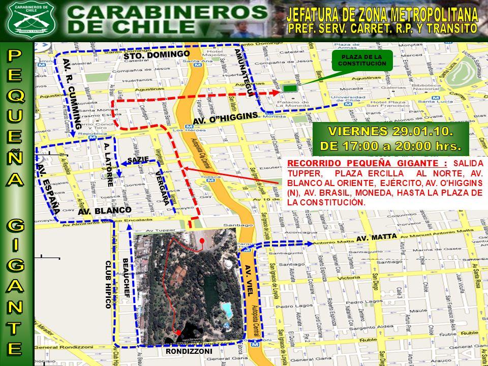 VIERNES 29.01.10. DE 17:00 a 20:00 hrs. JEFATURA DE ZONA METROPOLITANA