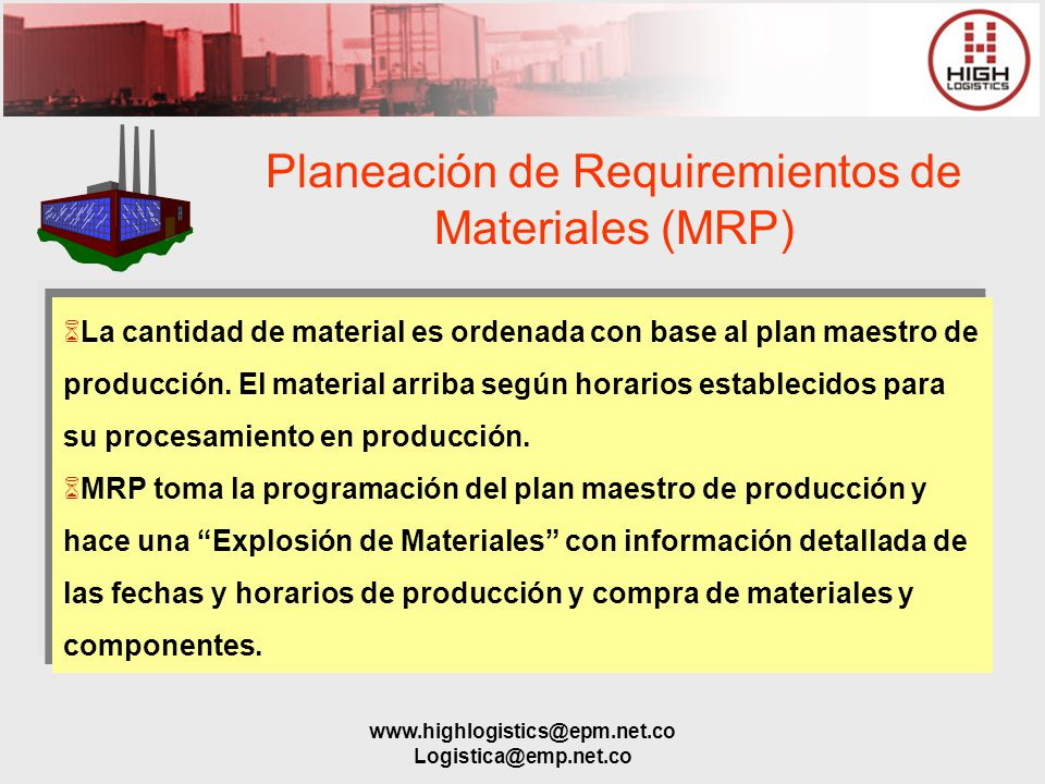Planeación de Requiremientos de Materiales (MRP)