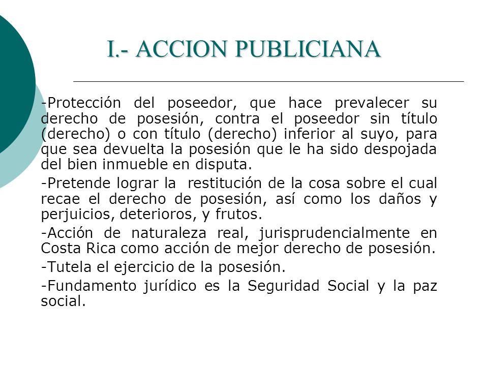 I.- ACCION PUBLICIANA