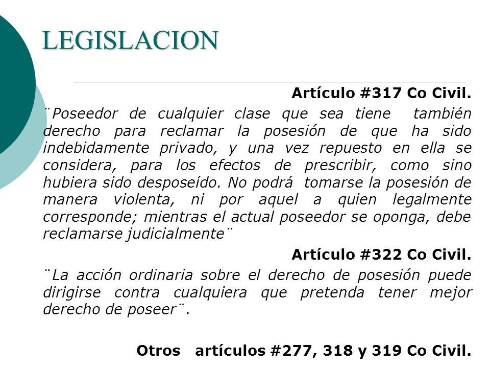 LEGISLACION Artículo #317 Co Civil.