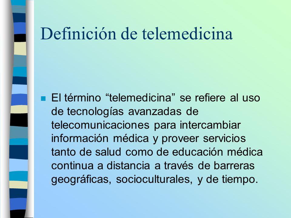 Definición de telemedicina