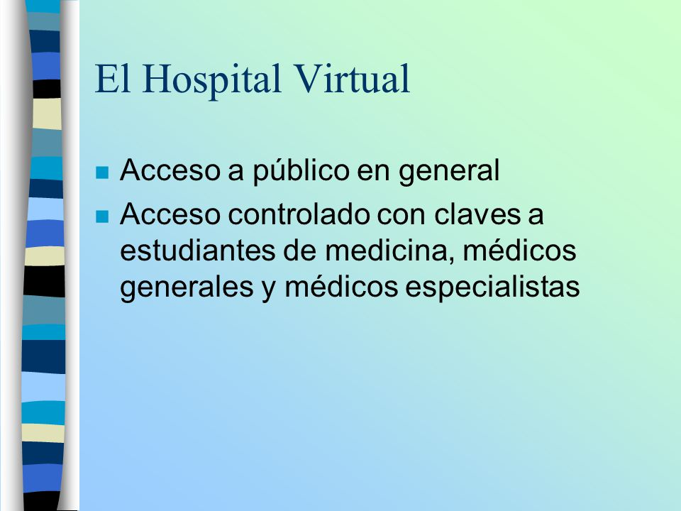 El Hospital Virtual Acceso a público en general