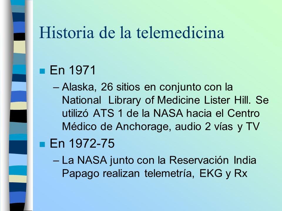 Historia de la telemedicina