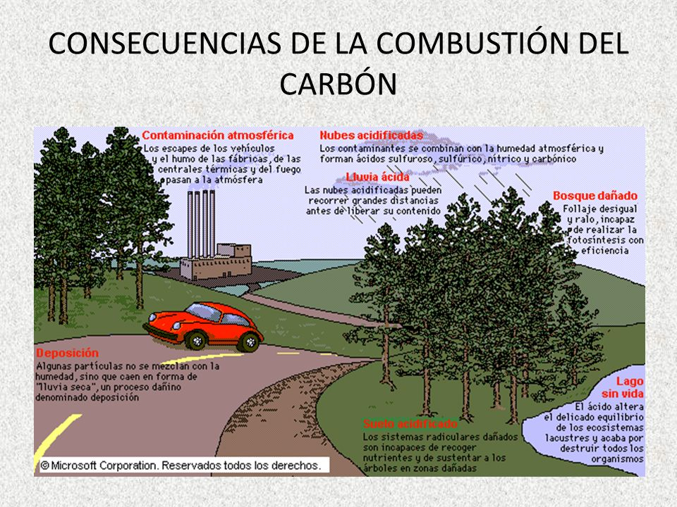 CONSECUENCIAS DE LA COMBUSTIÓN DEL CARBÓN
