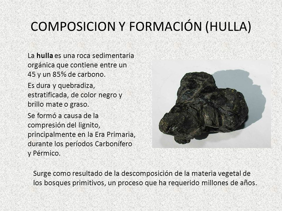 COMPOSICION Y FORMACIÓN (HULLA)