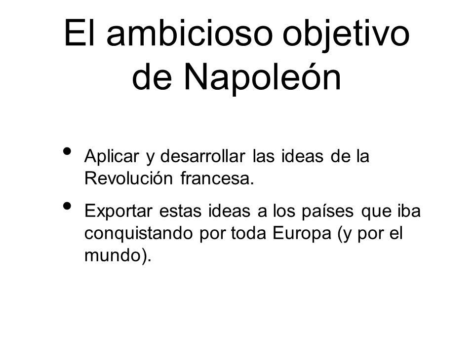 El ambicioso objetivo de Napoleón