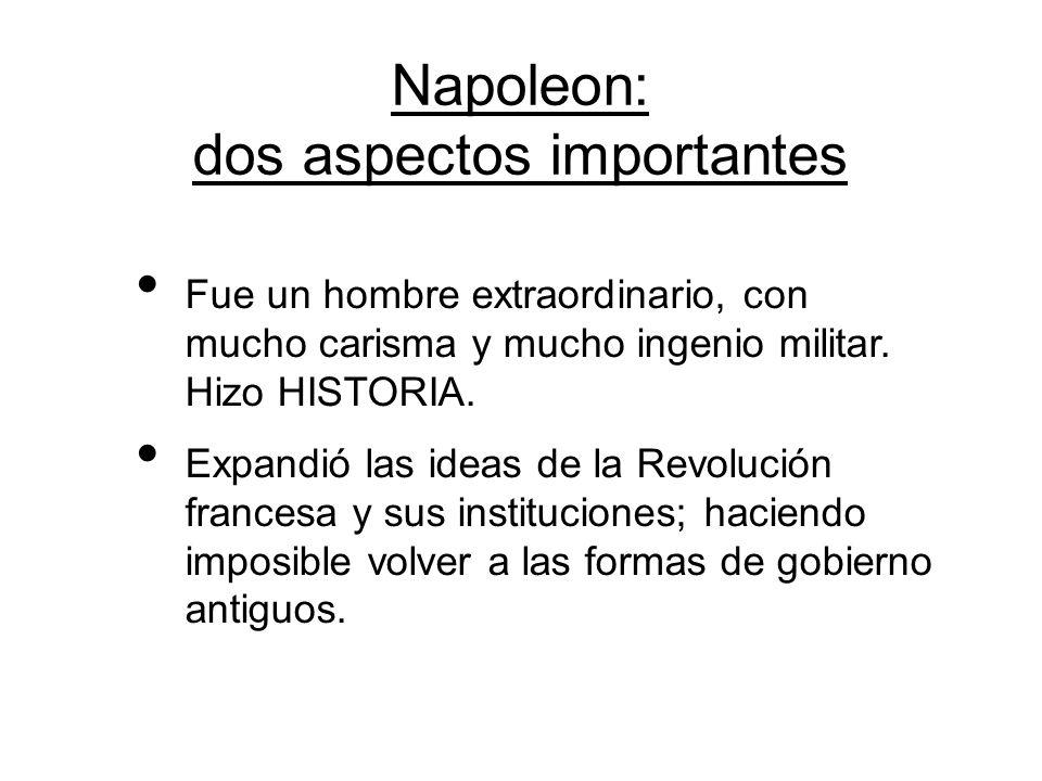 Napoleon: dos aspectos importantes