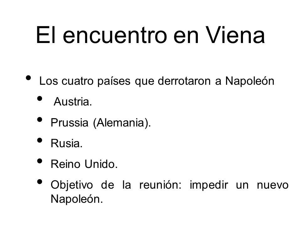 El encuentro en Viena Los cuatro países que derrotaron a Napoleón