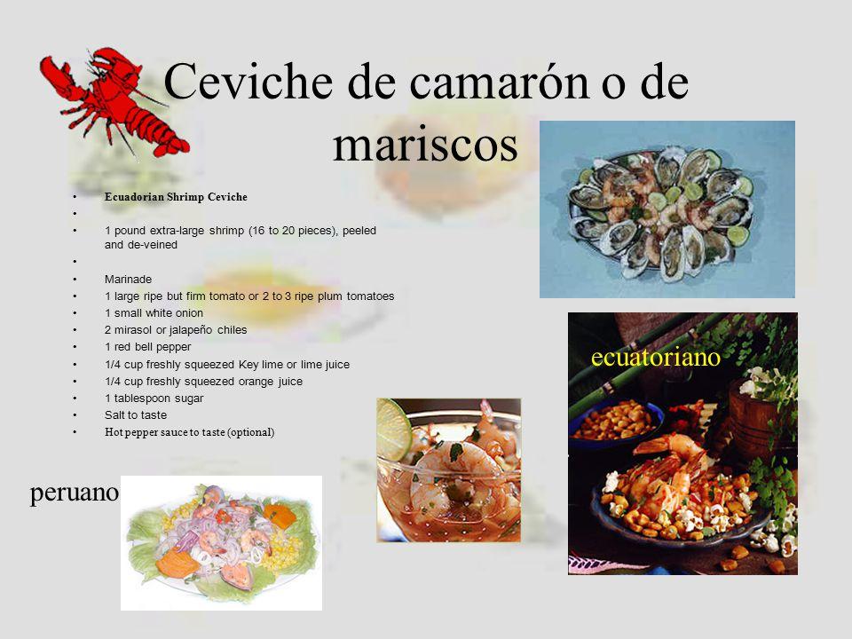 Ceviche de camarón o de mariscos