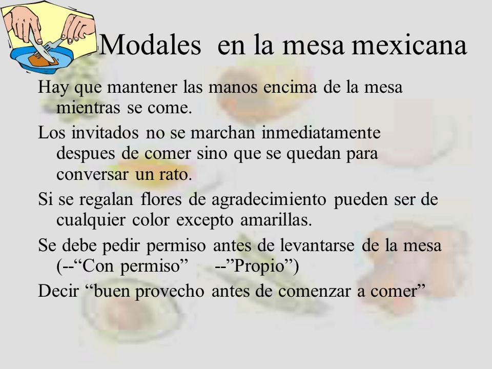 Modales en la mesa mexicana