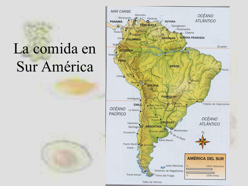 La comida en Sur América