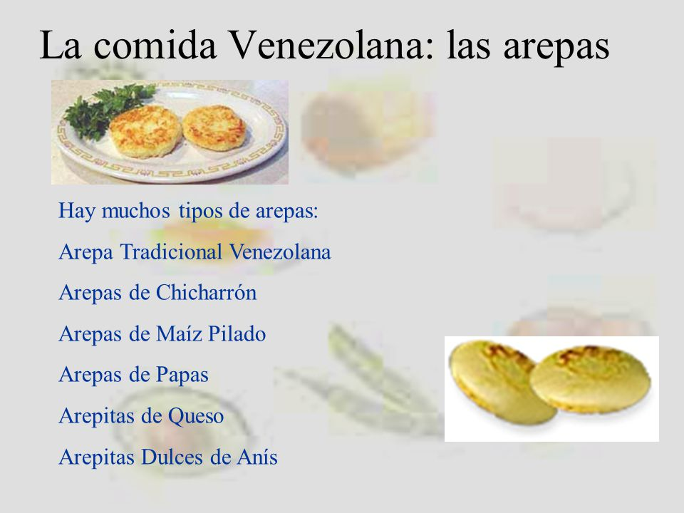 La comida Venezolana: las arepas