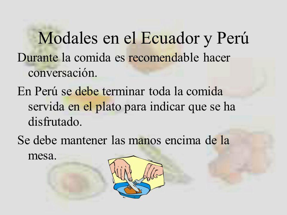 Modales en el Ecuador y Perú