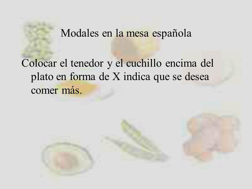 Modales en la mesa española