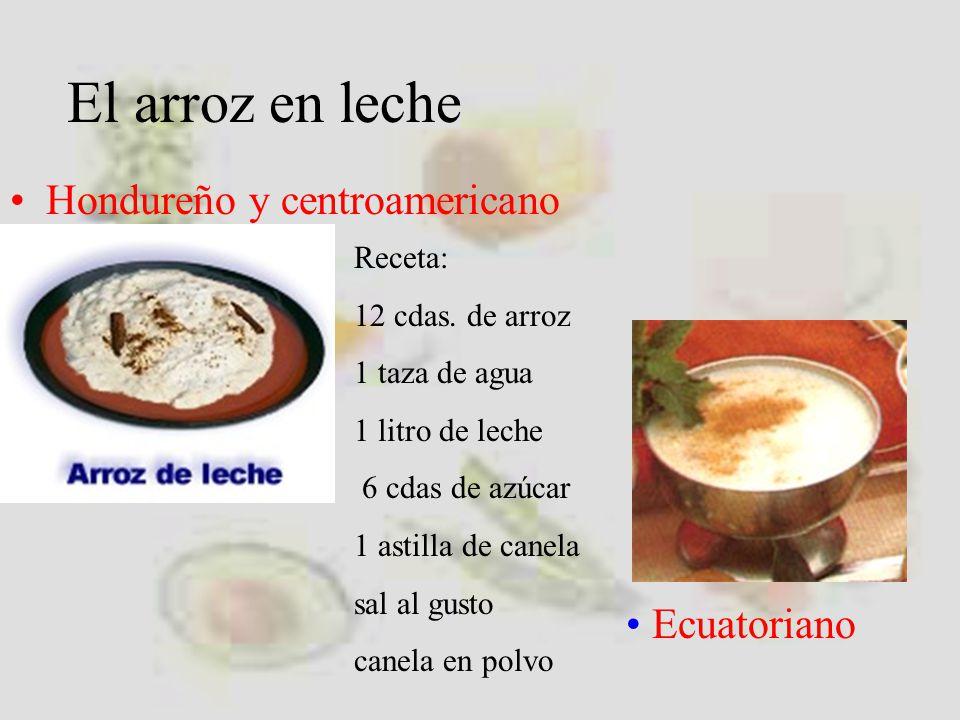 El arroz en leche Hondureño y centroamericano Ecuatoriano Receta: