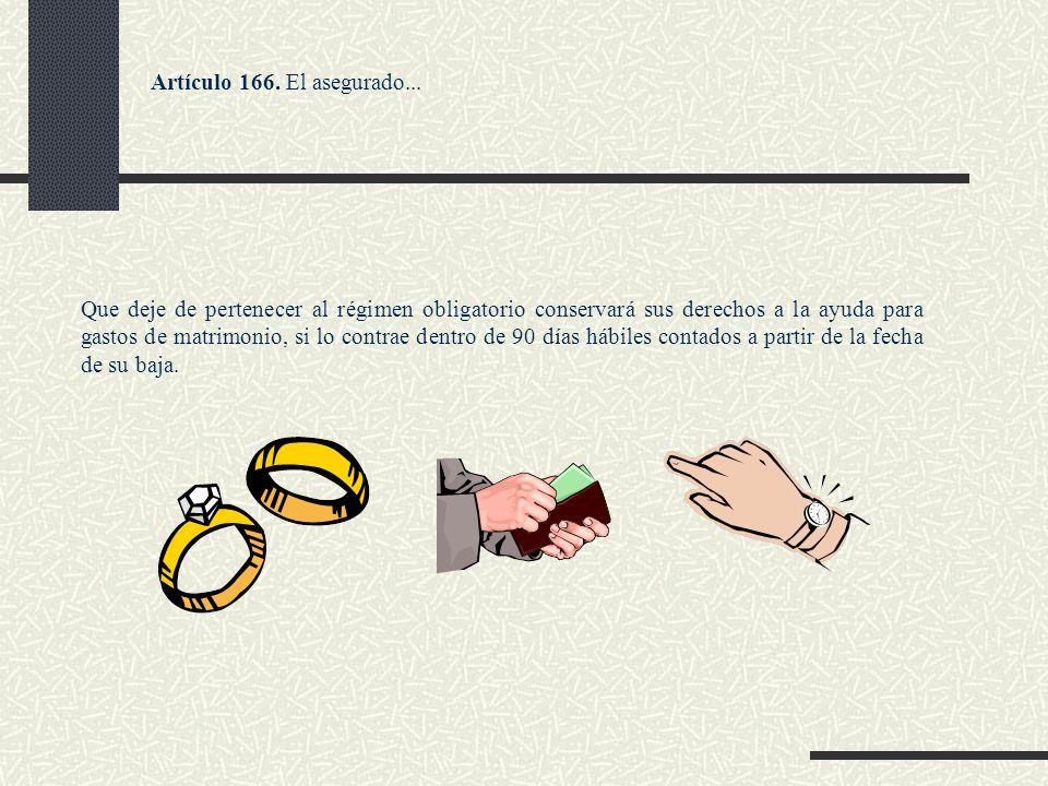 Artículo 166. El asegurado...