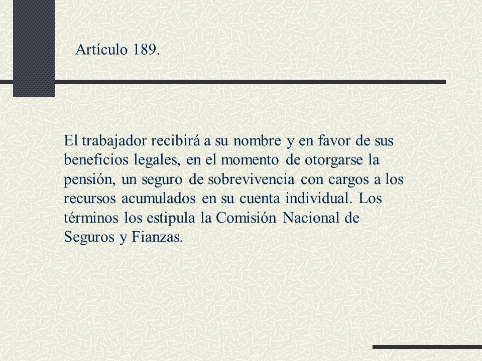 Artículo 189.
