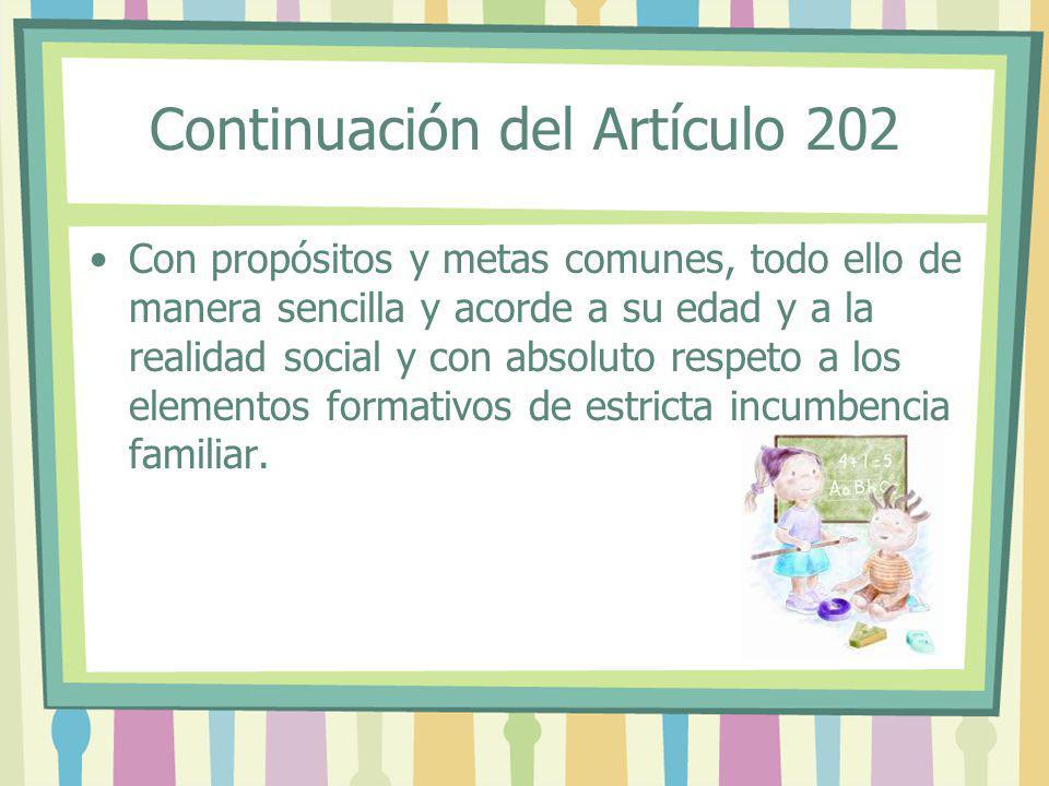Continuación del Artículo 202