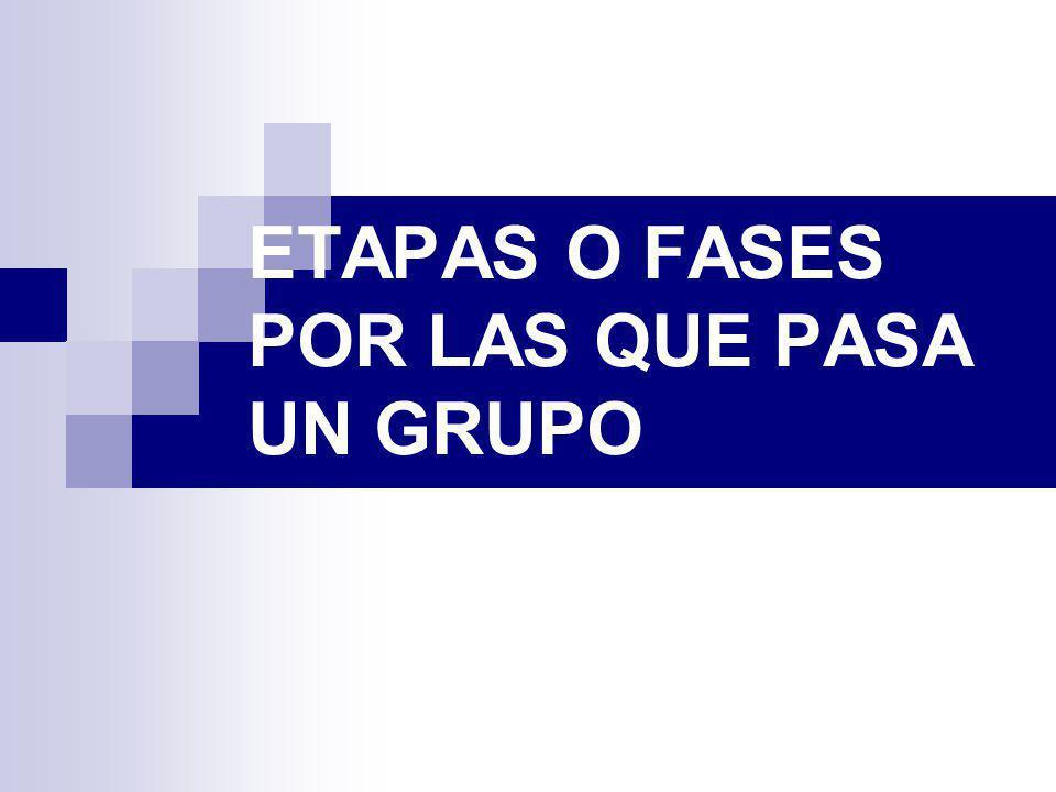 ETAPAS O FASES POR LAS QUE PASA UN GRUPO