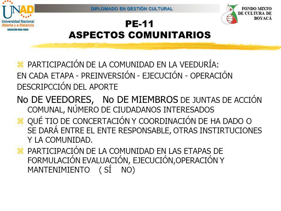 PE-11 ASPECTOS COMUNITARIOS