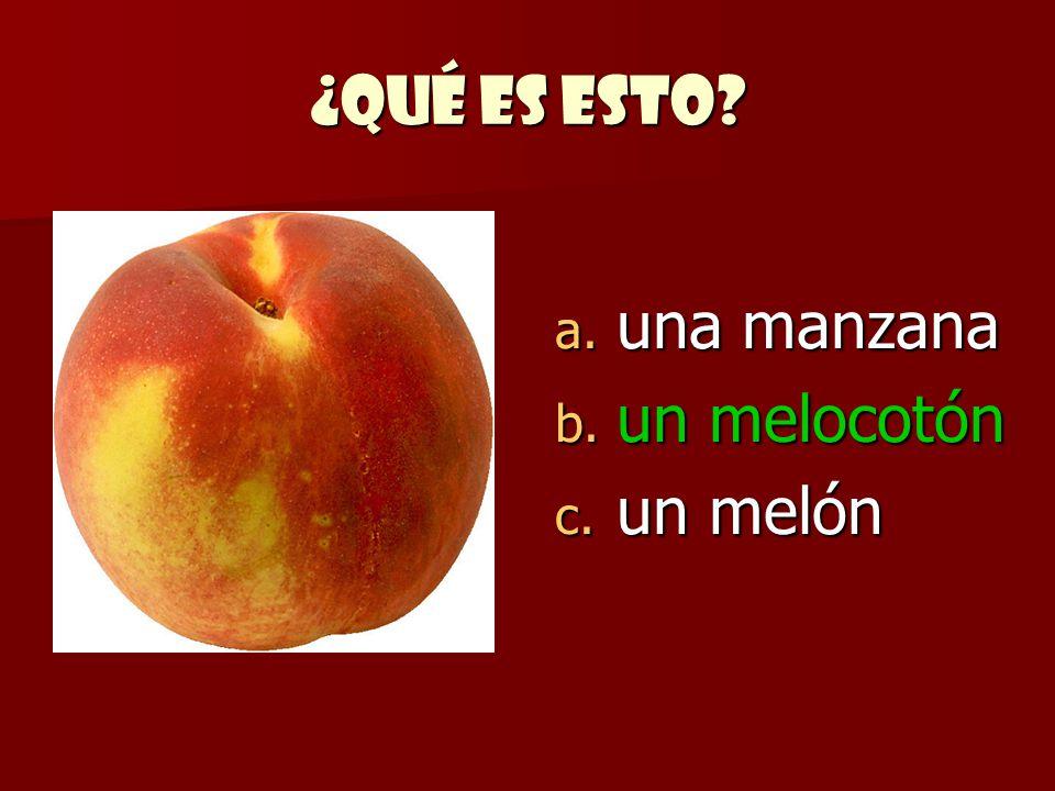 ¿Qué es esto una manzana un melocotón un melón