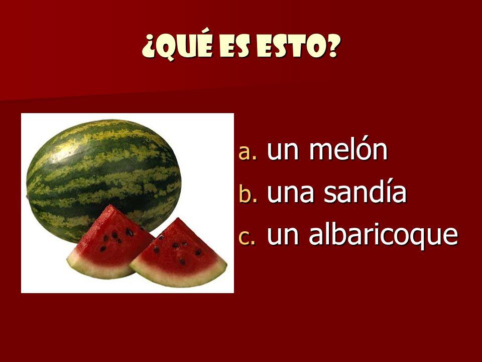 ¿Qué es esto un melón una sandía un albaricoque