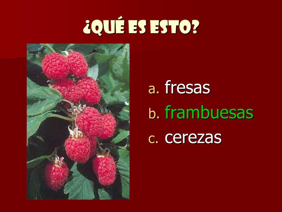 ¿Qué es esto fresas frambuesas cerezas