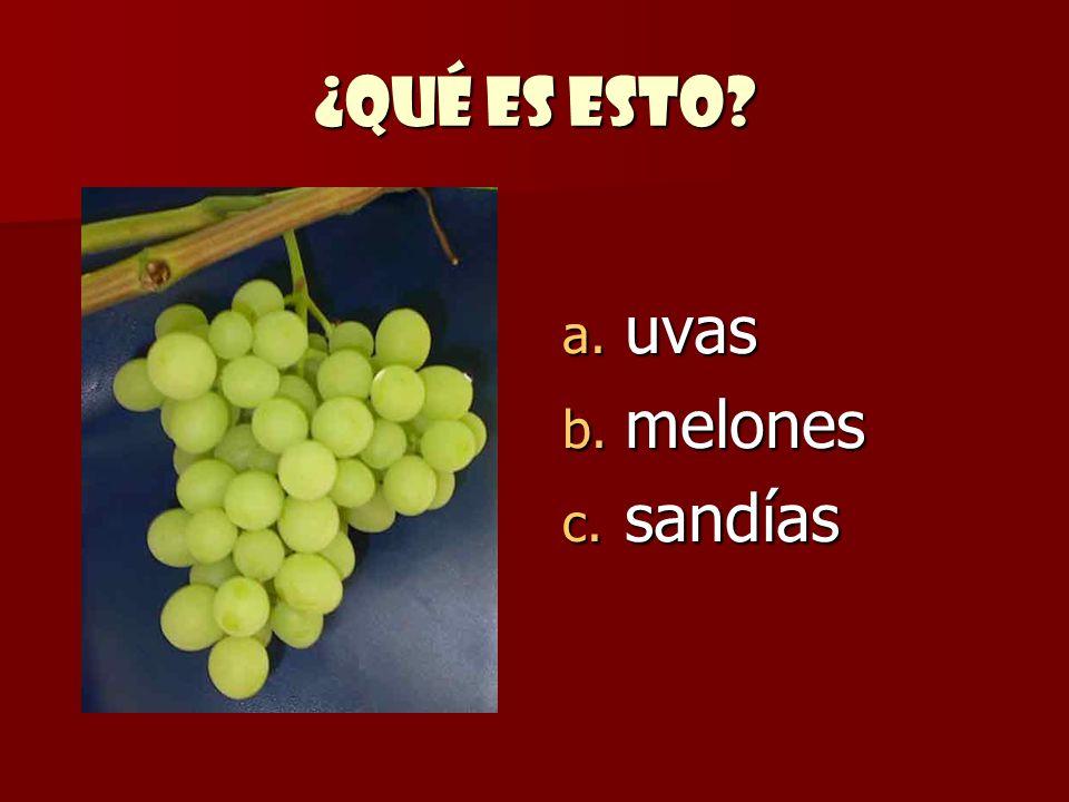 ¿Qué es esto uvas melones sandías