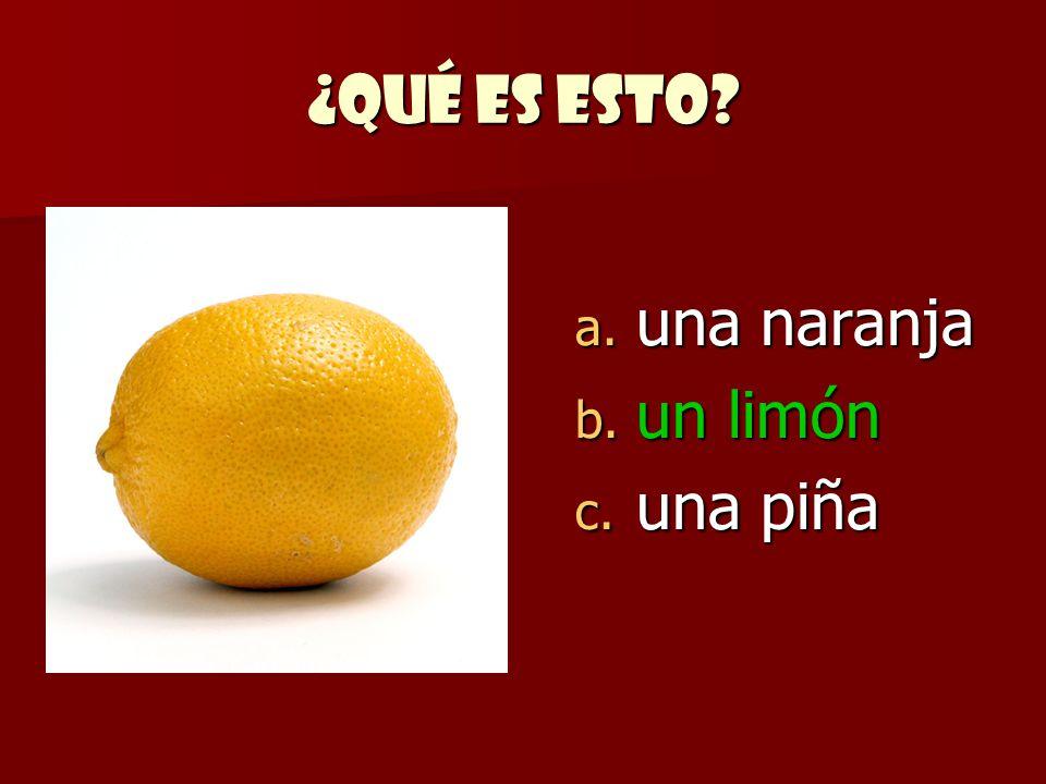¿Qué es esto una naranja un limón una piña