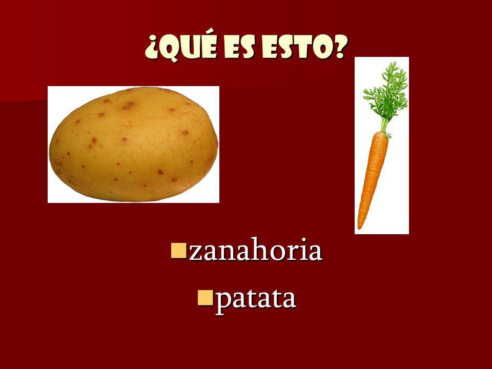 ¿Qué es esto zanahoria patata