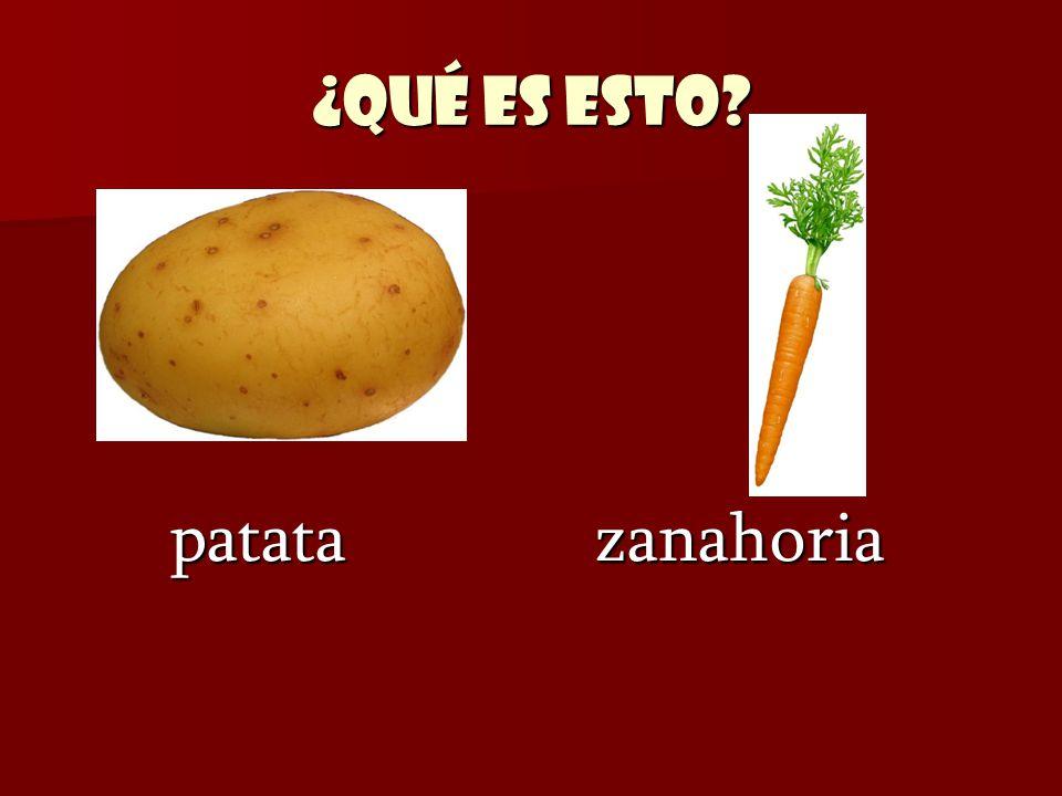 ¿Qué es esto patata zanahoria