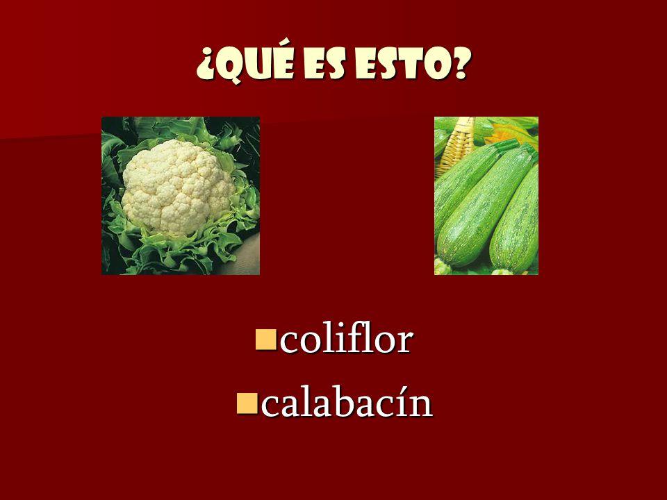¿Qué es esto coliflor calabacín