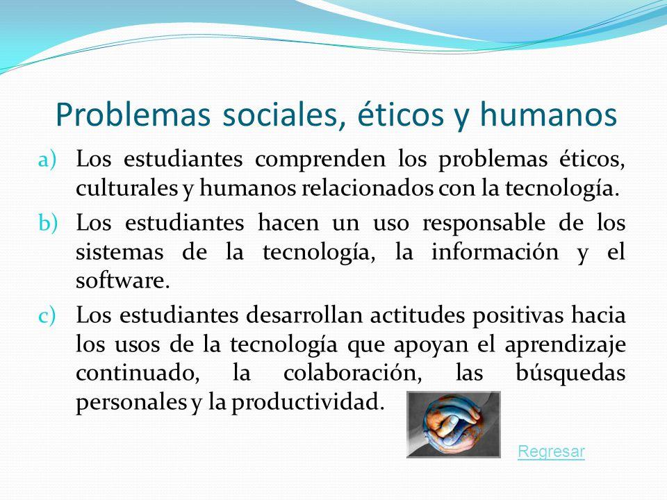 Problemas sociales, éticos y humanos