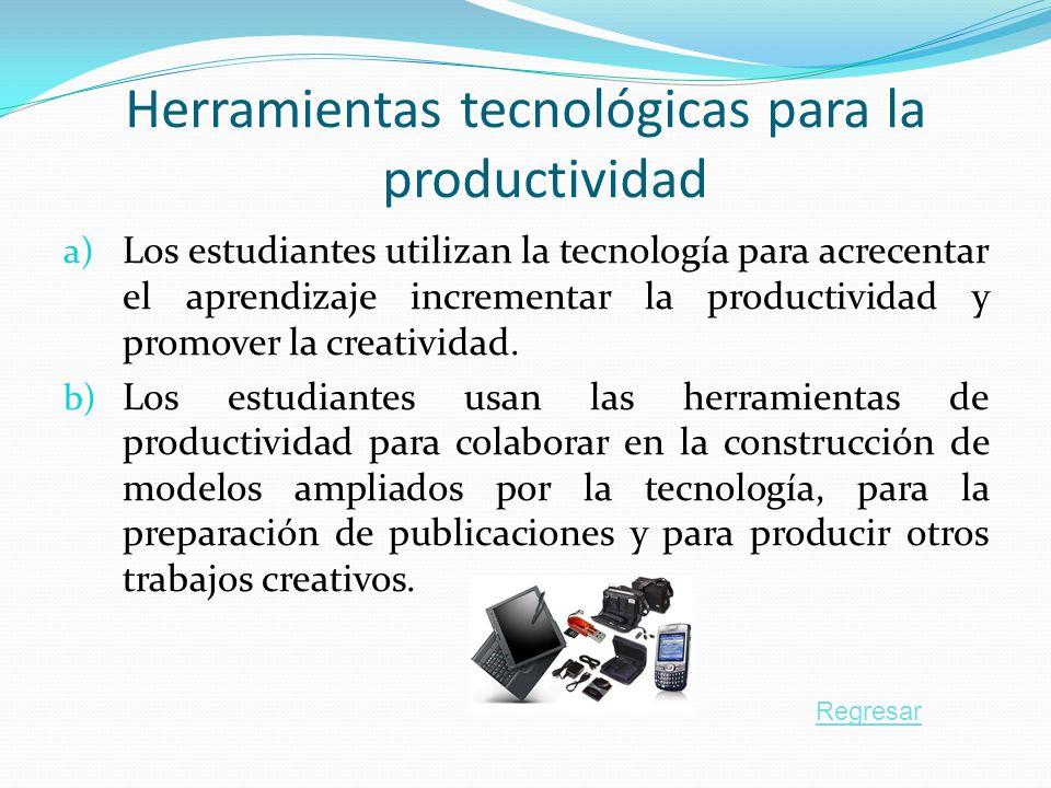 Herramientas tecnológicas para la productividad