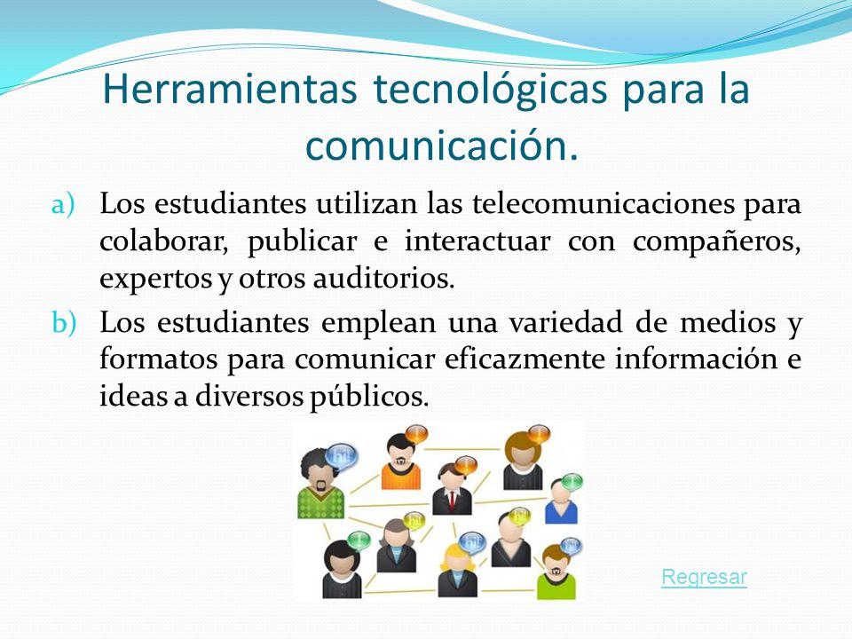 Herramientas tecnológicas para la comunicación.