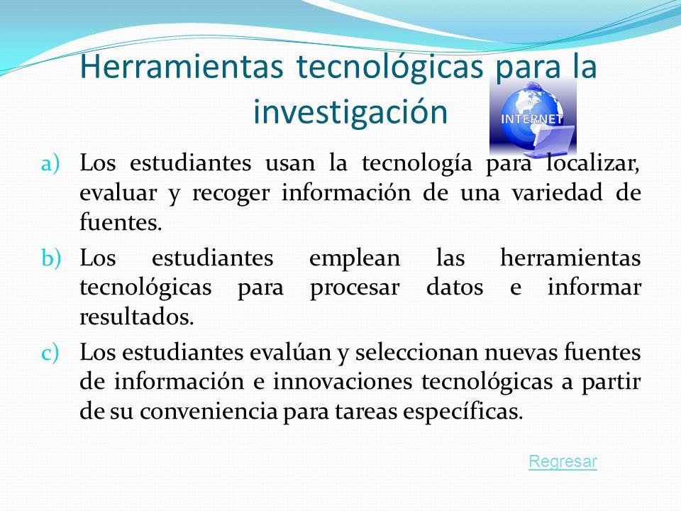 Herramientas tecnológicas para la investigación