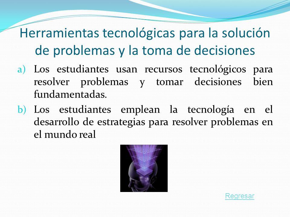 Herramientas tecnológicas para la solución de problemas y la toma de decisiones