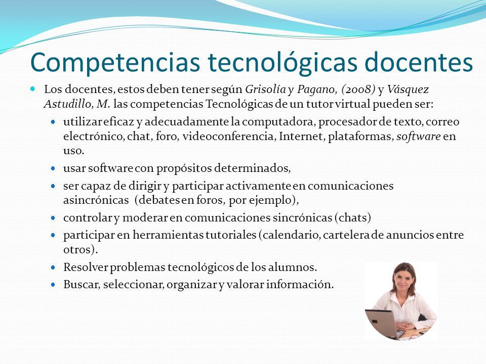 Competencias tecnológicas docentes