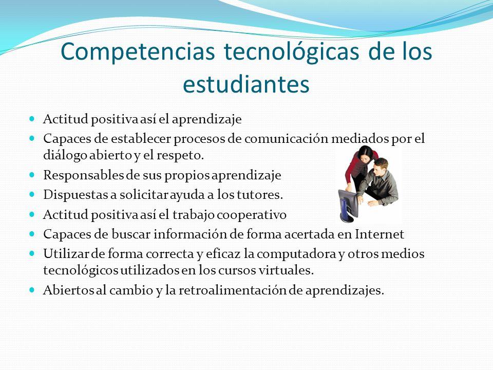 Competencias tecnológicas de los estudiantes